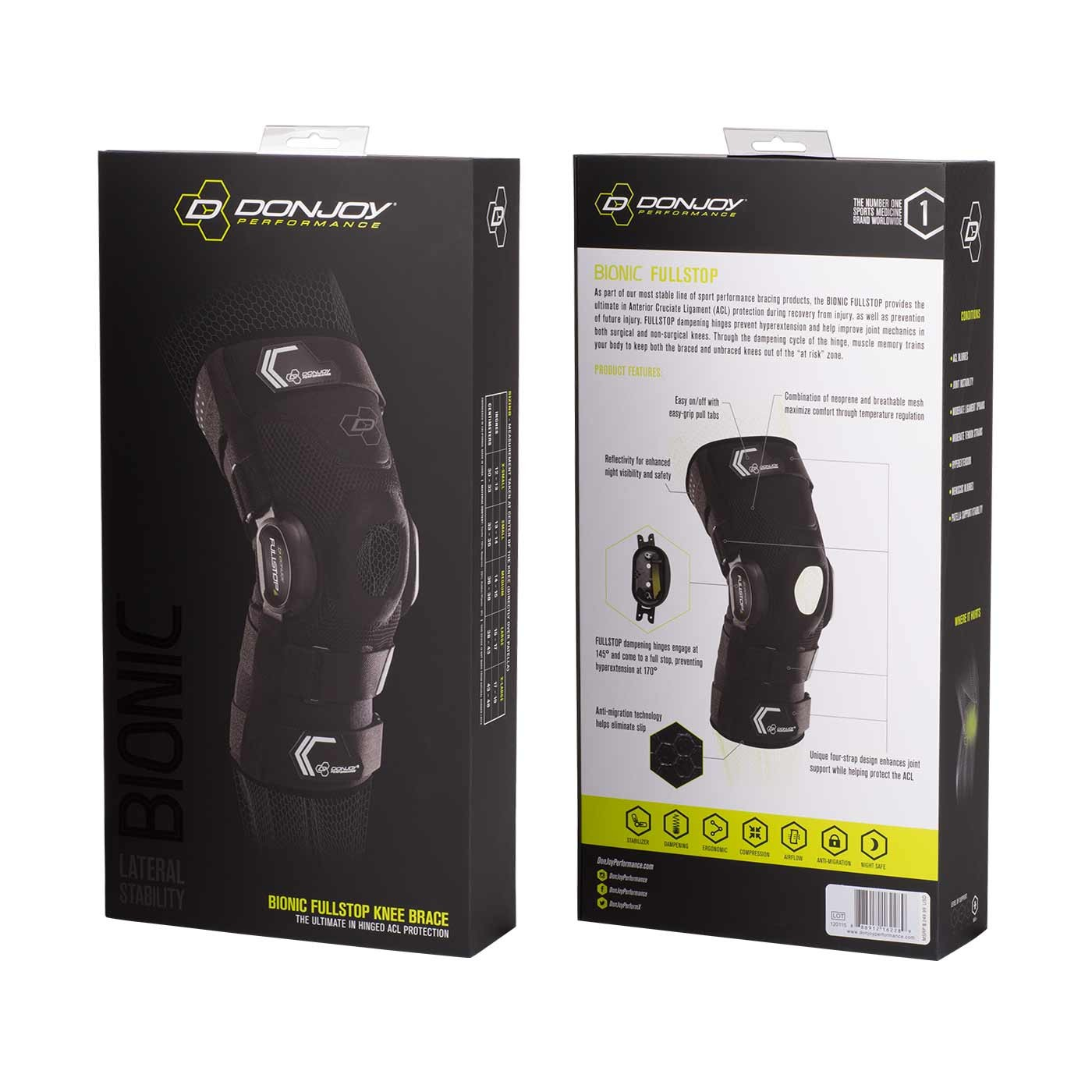 aedc063701 ... DonJoy Performance Retail Packaging; Bionic FullStop Knee Brace; Bionic  FullStop Knee Brace - Hinge. Previous Next