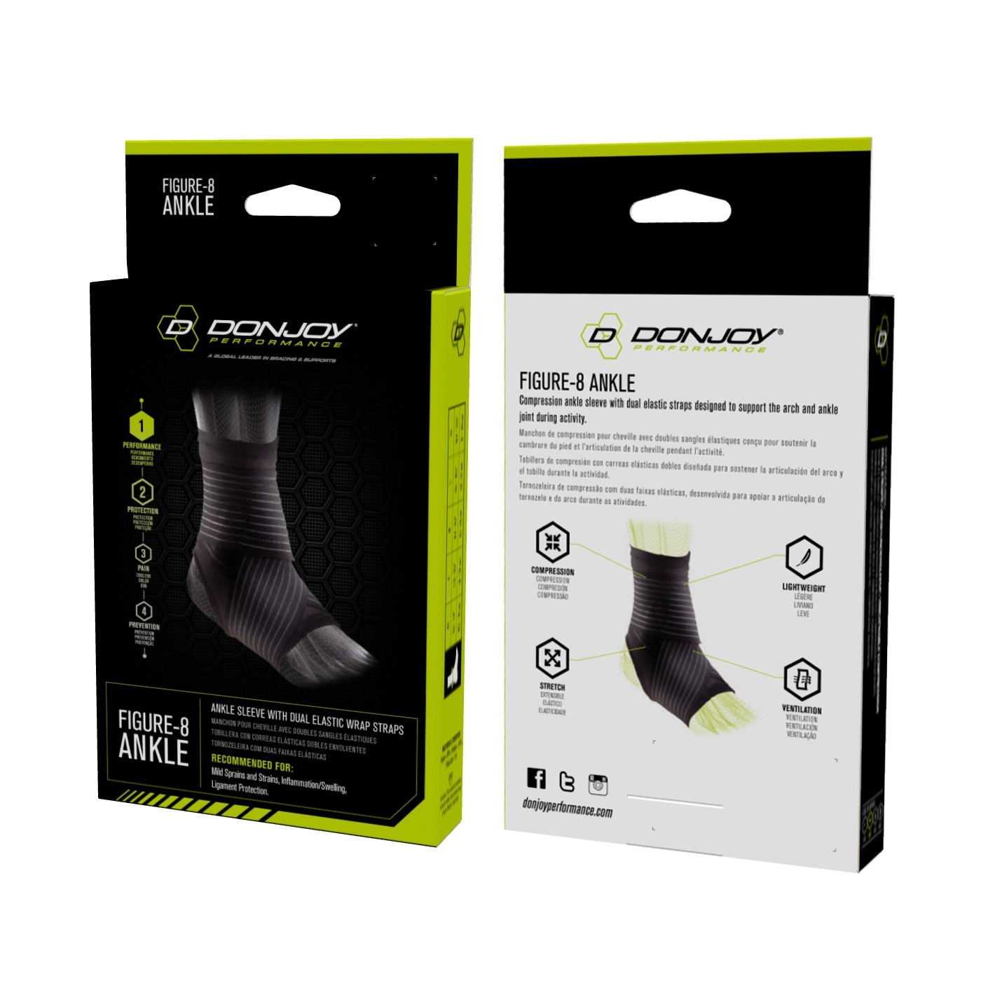 e66a9d557f DonJoy Performance Figure 8 Ankle Sleeve with Straps | DonJoyPerformance.com