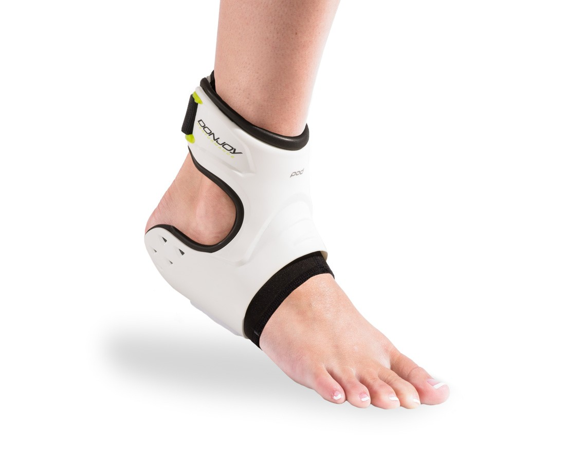 115b14d017 ... donjoy performance pod ankle brace white front - On Body. Previous Next