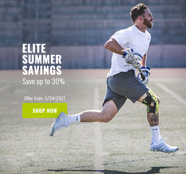 Elite Summer Savings - Save up to 30% - LaCrosse athlete running with wetech brace