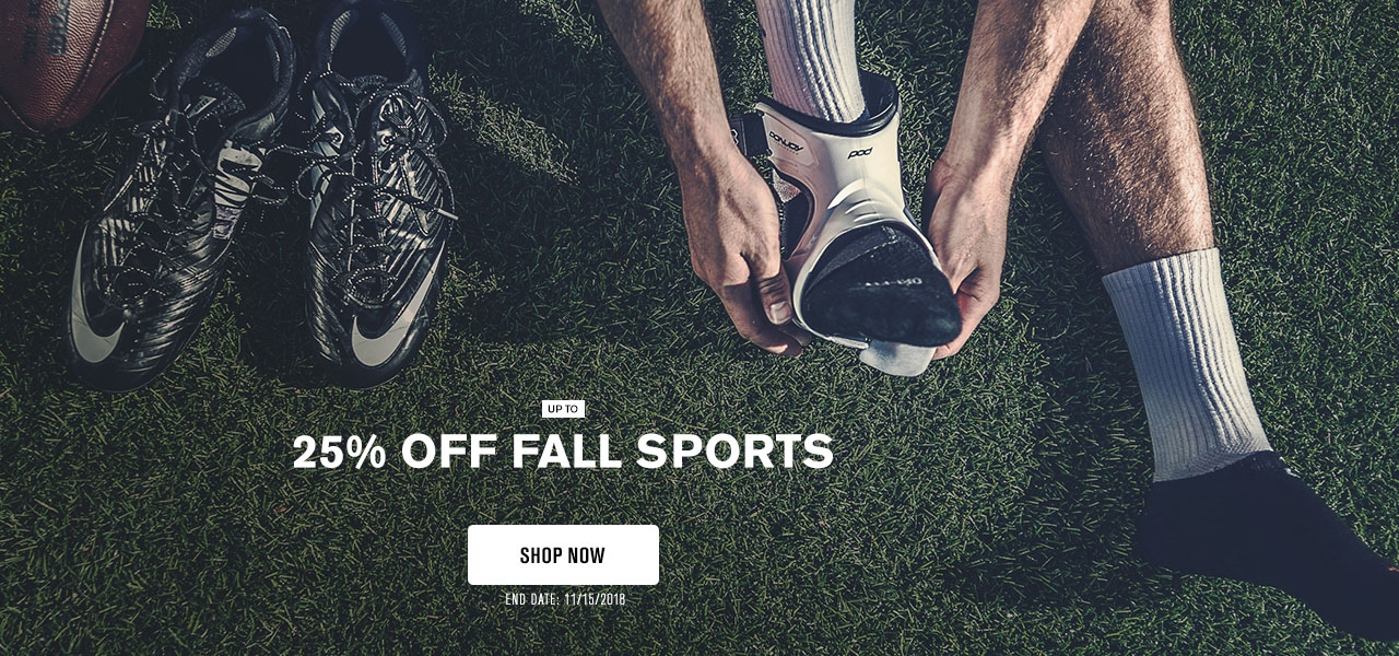 Up to 25% Off Fall Sports