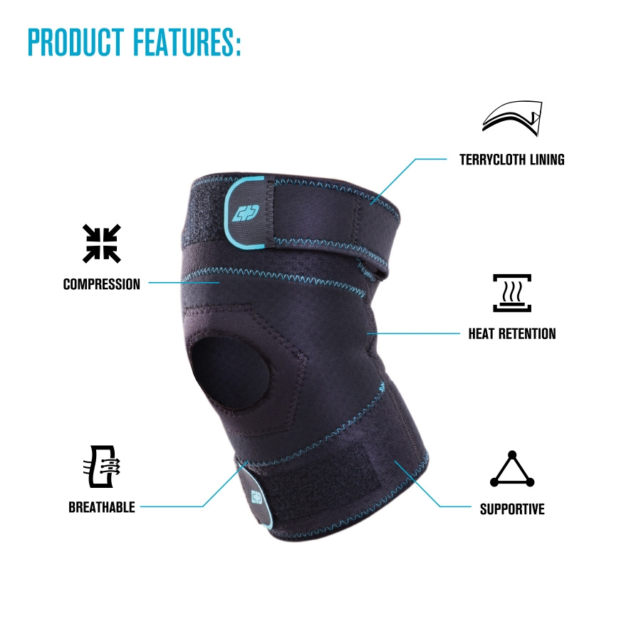 a5aaa14df7 DonJoy Advantage Knee Sleeve - Compression Knee Sleeve with Straps ...